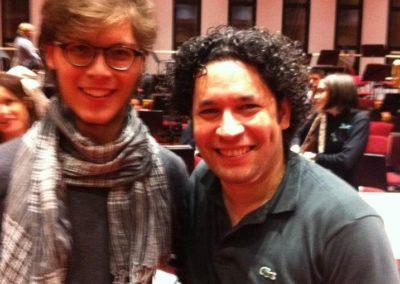 Con il maestro Dudamel - Accademia del teatro alla Scala - Giugno 2010